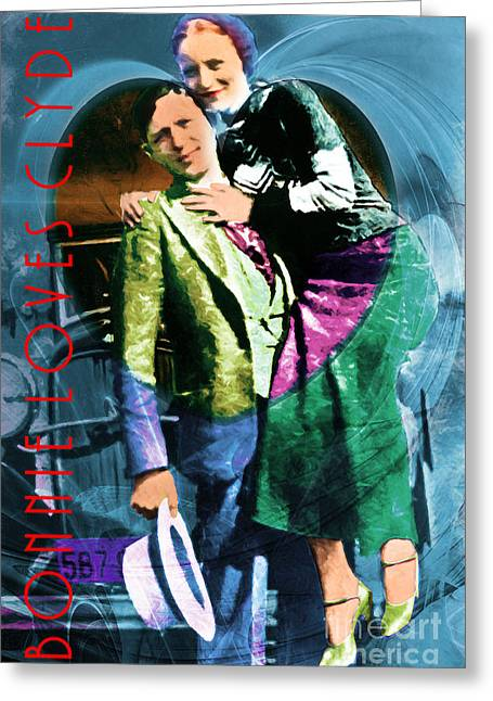 Bonnie Loves Clyde 20150523 With Text Greeting Card by Wingsdomain Art and Photography
