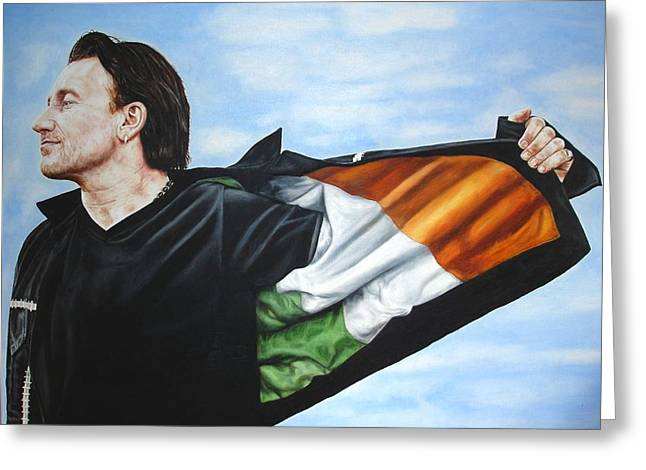 Bono Flag Greeting Card by Mark Baker