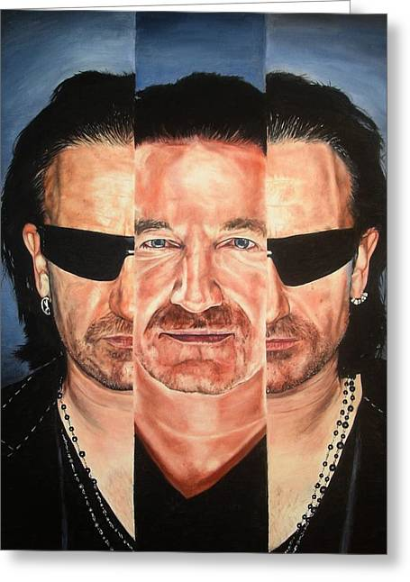 Bono In IIi Greeting Card by Mark Baker