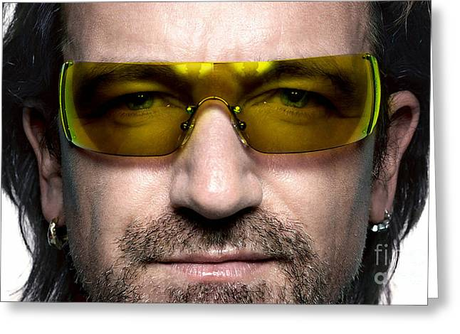 Bono  Greeting Card by Marvin Blaine