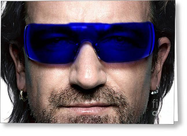 Bono Of U2 Greeting Card by Marvin Blaine