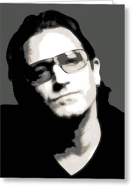 Bono Poster Greeting Card
