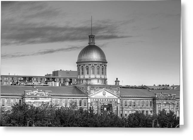 Bonsecours Market  Montreal, Quebec Greeting Card by David Chapman