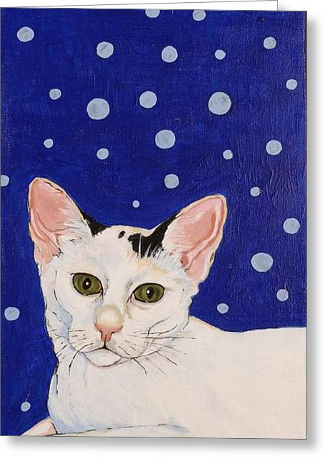 Greeting Card featuring the painting Booboo by Alison Caltrider