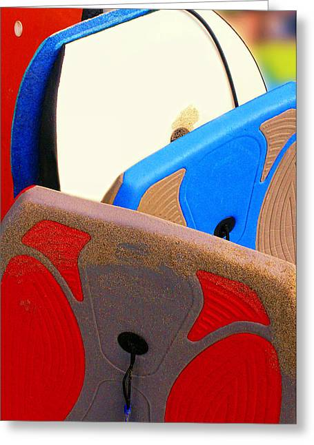 Boogie Boards Greeting Card by Ron Regalado