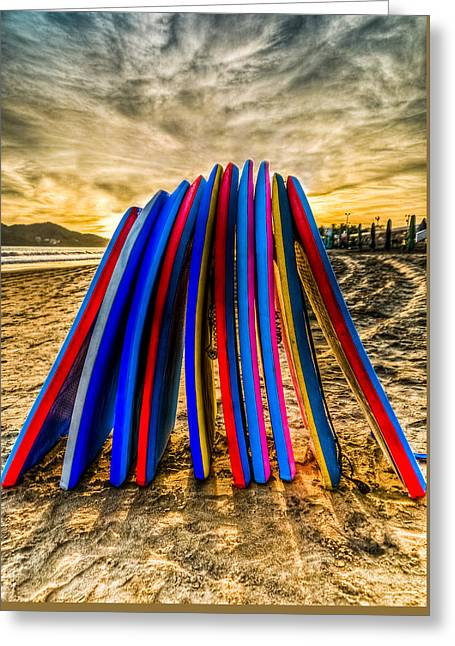 Boogie Boards Greeting Card by Tommy Farnsworth
