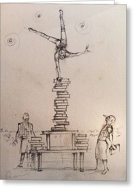 Book Balance Greeting Card by H James Hoff