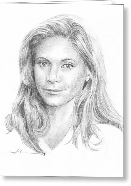 Book Charater 11 Pencil Portrait  Greeting Card