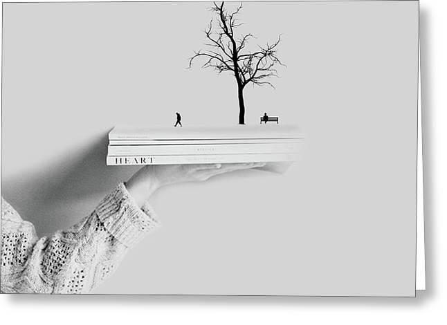 Book Drame He+art Greeting Card