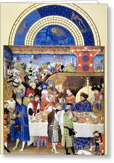Book Of Hours: January Greeting Card