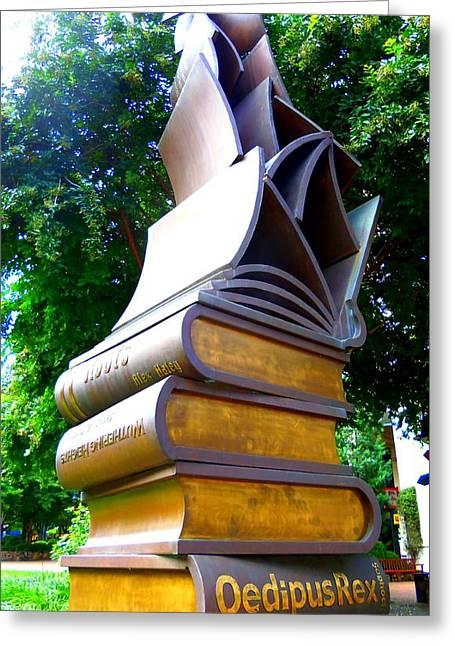 Book Sculpture 2 Greeting Card