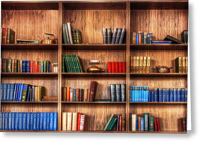 Book Shelf Greeting Card by Svetlana Sewell
