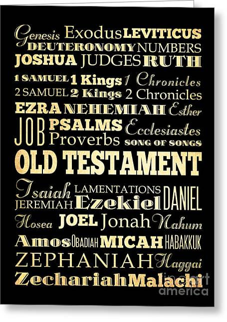 Books Of Old Testament Greeting Card