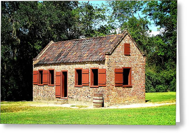 Greeting Card featuring the photograph Boone Hall Plantation Slave Quarters by Greg Simmons