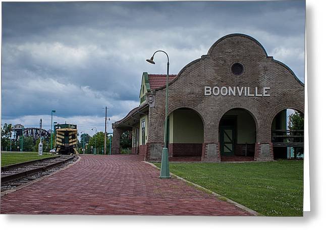 Greeting Card featuring the photograph Boonville Depot by Wayne Meyer