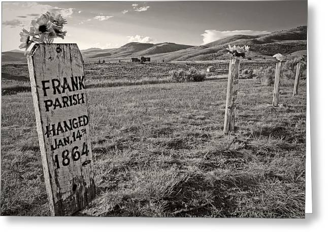 Boot Hill - Virginia City - Montana Greeting Card by Daniel Hagerman