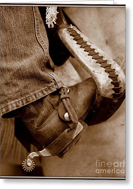 Boot N Stirup Greeting Card by Bill Keiran