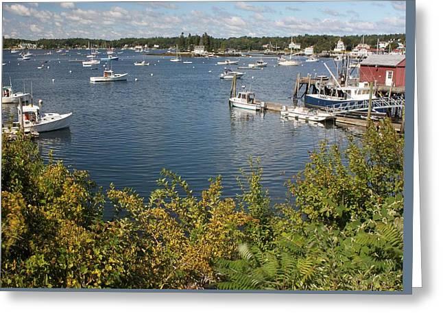 Boothbay Harbor Vista Greeting Card