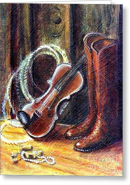 Boots And Pearls Greeting Card