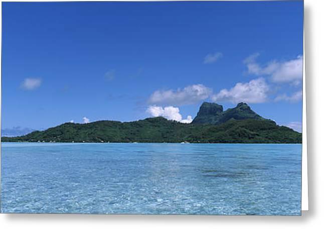 Bora Bora From Motu Iti, Society Greeting Card by Panoramic Images