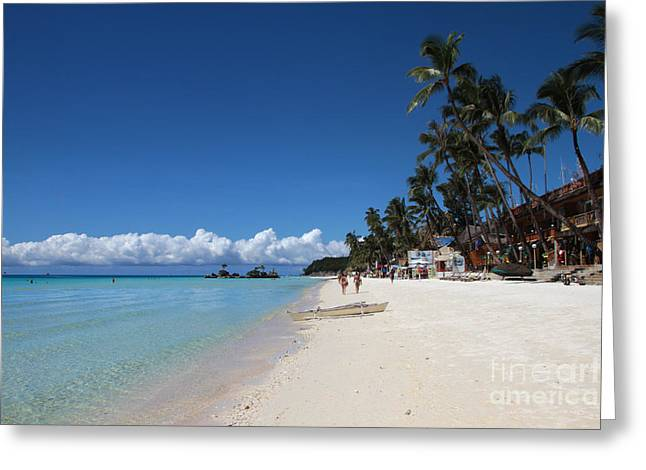 Greeting Card featuring the photograph Boracay Beach by Joey Agbayani