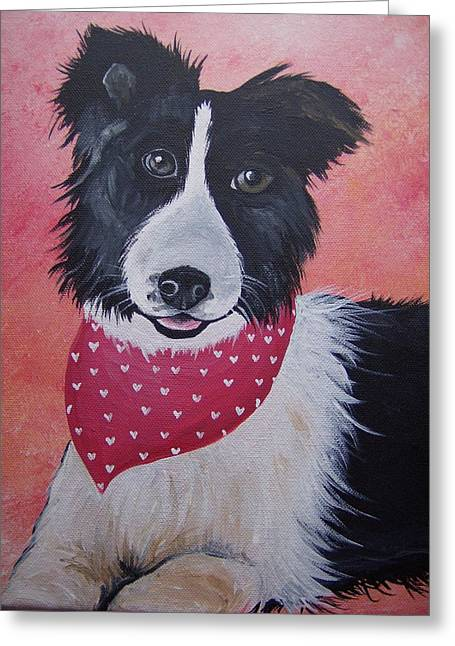 Border Collie Greeting Card by Leslie Manley