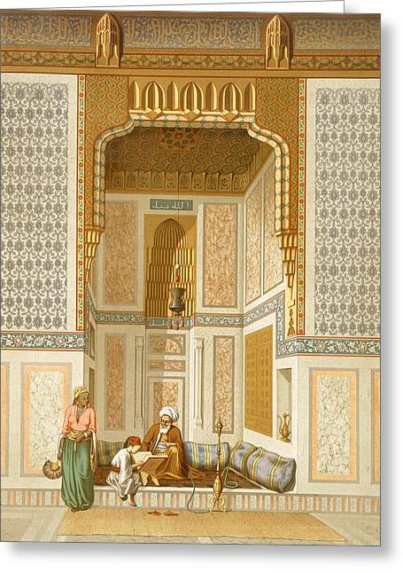 Bordeyny Mosque, Cairo Greeting Card by French School