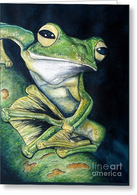 Boreal Flyer Tree Frog Greeting Card by Joey Nash