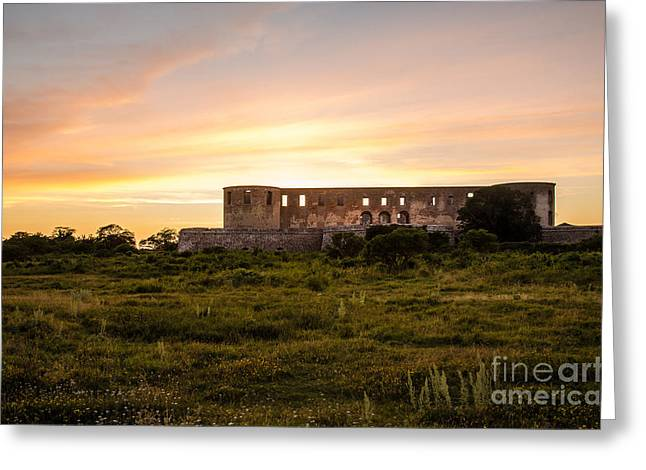 Borgholm Castle In Sweden Greeting Card by Kennerth and Birgitta Kullman