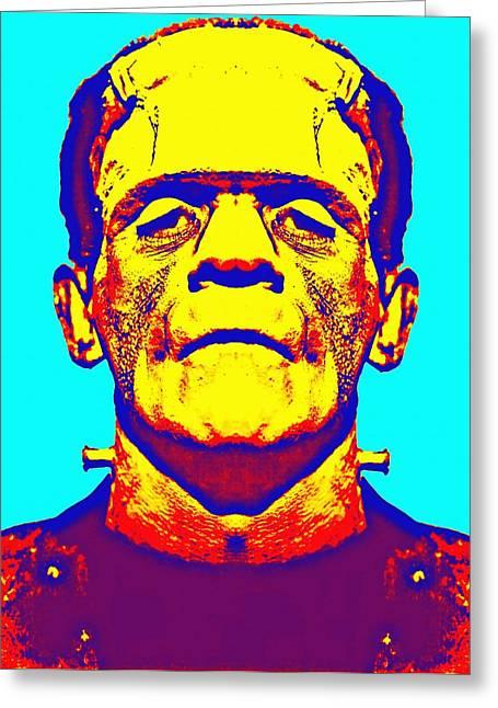 Boris Karloff Alias In The Bride Of Frankenstein Greeting Card