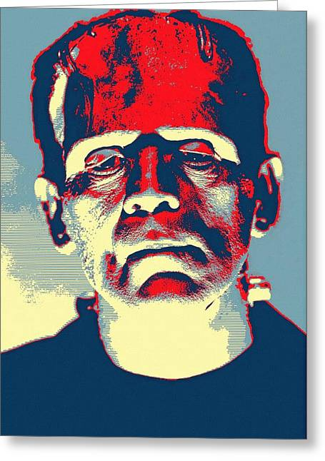 Boris Karloff In The Bride Of Frankenstein Greeting Card