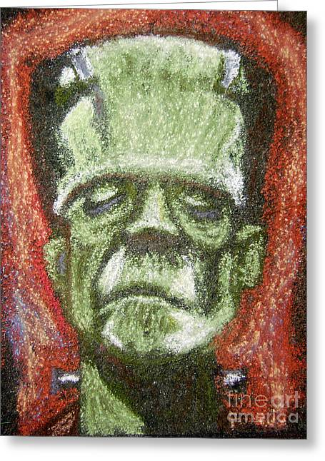 Boris Karloff Greeting Card by Seamus Corbett