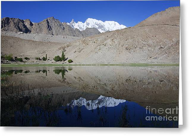 Borith Lake At Passu In Pakistan Greeting Card by Robert Preston