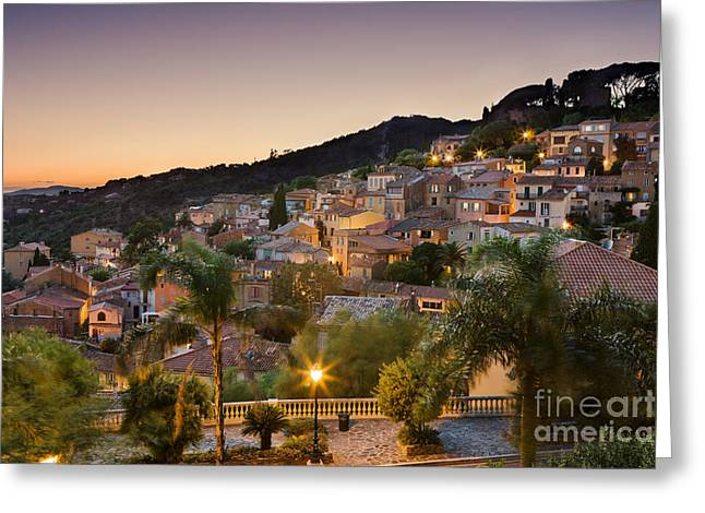 Bormes Les Mimosas Greeting Card by Rod McLean