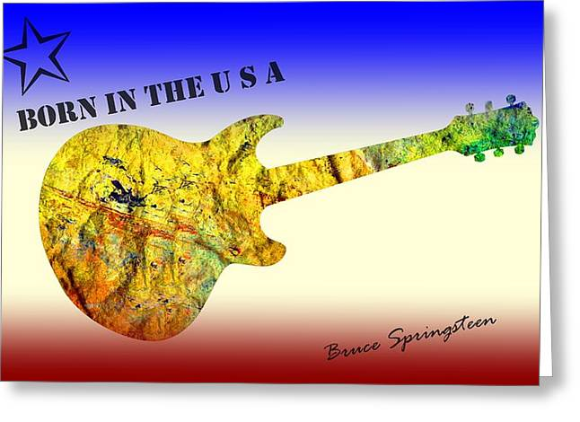 Born In The U S A Bruce Springsteen Greeting Card
