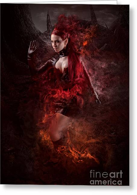 Born Of Fire Greeting Card by Robert Palmer