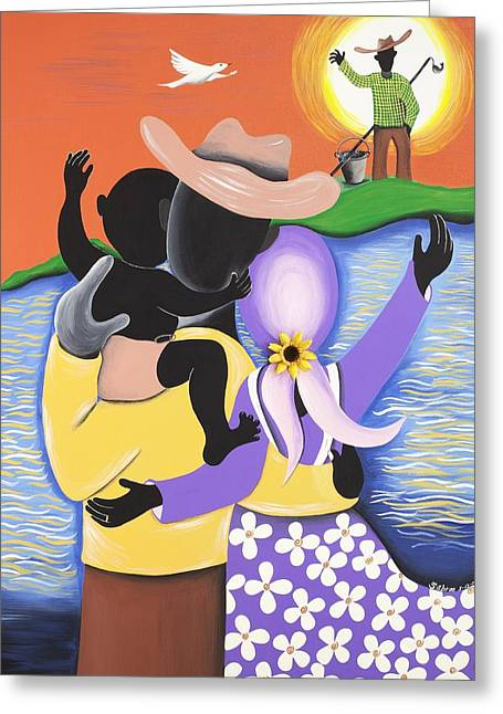 Born Of The Waters Greeting Card by Patricia Sabree