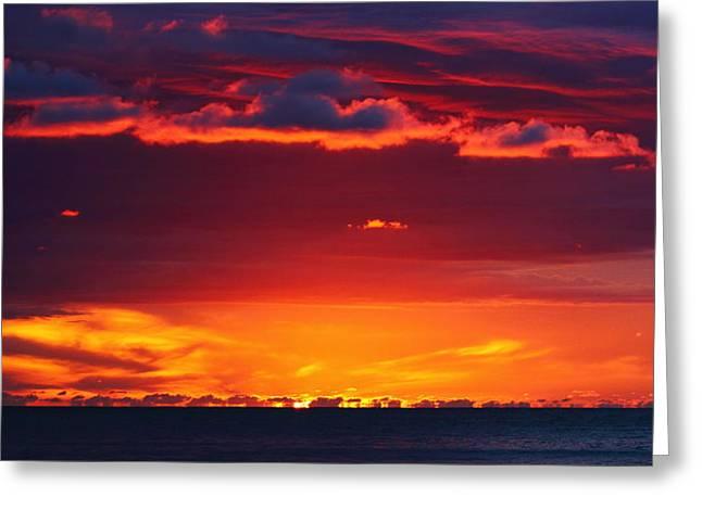 Borneo Sunset Greeting Card by Victoria Hillman