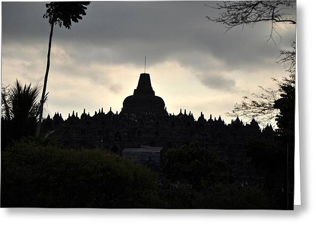 Borobudur Temple Greeting Card by Achmad Bachtiar