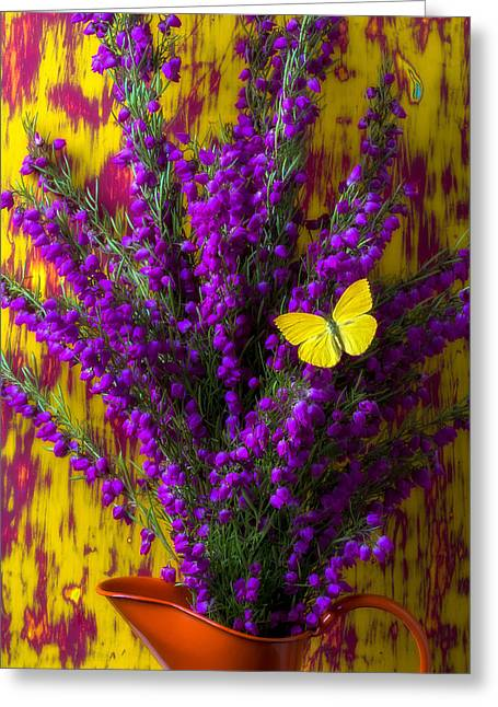 Boronia In Orange Pitcher Greeting Card by Garry Gay