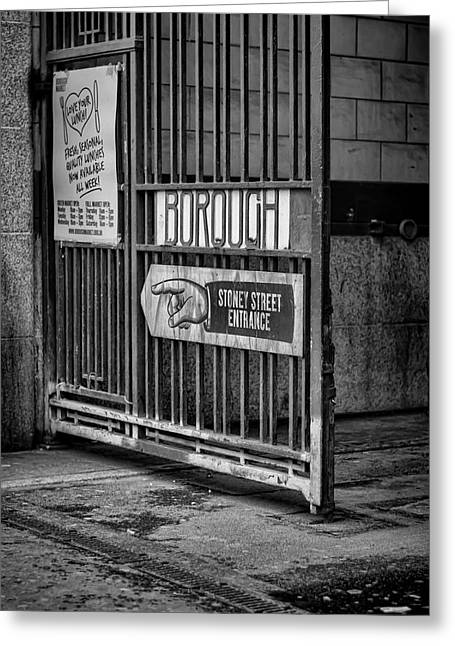 Borough Market Gate Greeting Card by Heather Applegate