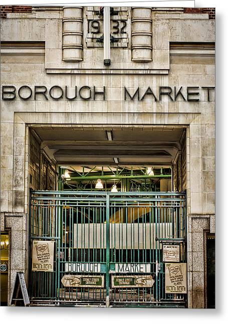 Borough Market London Greeting Card by Heather Applegate