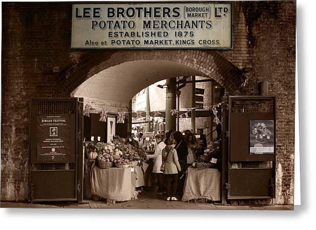 Borough Market Greeting Card by Stephen Norris