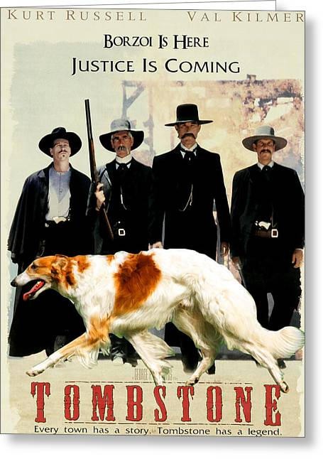 Borzoi Art - Tombstone Movie Poster Greeting Card