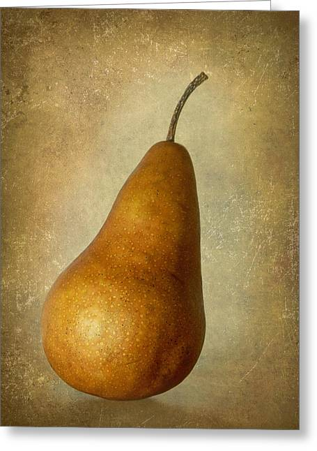 Bosc Pear Greeting Card by Angie Vogel