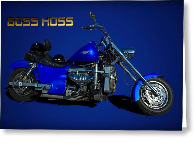 Boss Hoss Chevy V8 Motorcycle Greeting Card by Tim McCullough