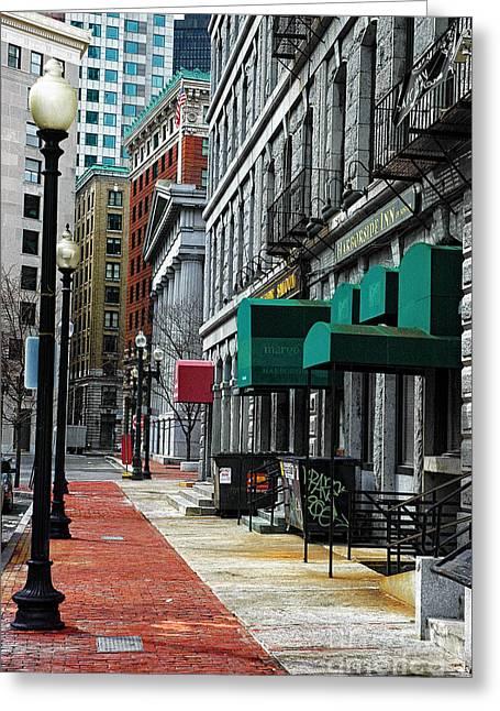 Boston 2 Greeting Card by Bob Stone