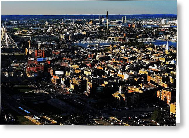 Boston Afternoon Greeting Card by Benjamin Yeager
