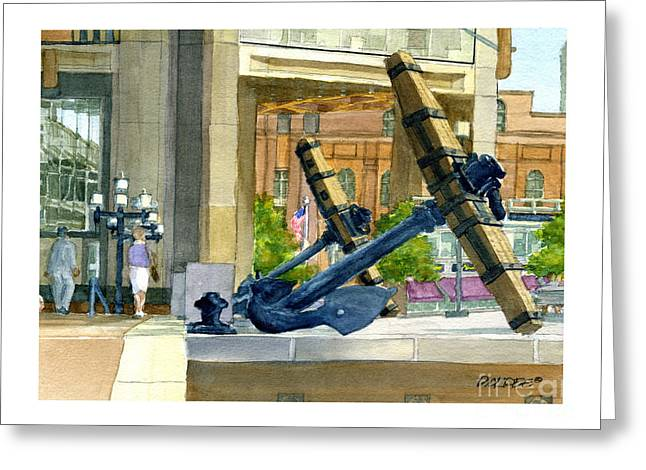 Boston Anchors Greeting Card