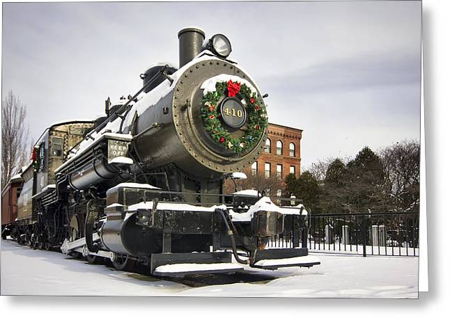 Boston And Maine Locomotive Greeting Card by Eric Gendron